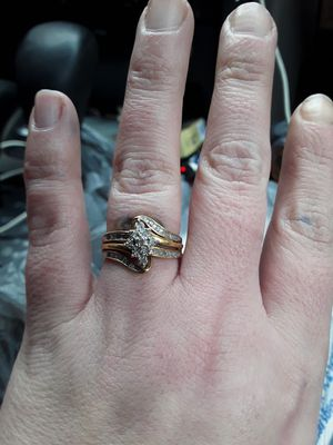 24 k dimond ring for Sale in Weston, WV