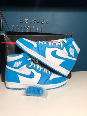 Nike Air Jordan Retro 1 Carolina UNC Blue Size 10 for Sale in South Gate, CA