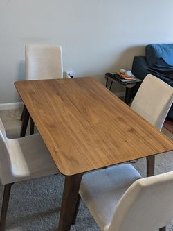 Wayfair Walnut Dining Table Set for Sale in Seattle,  WA