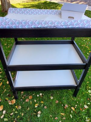 Changing table with pad, covers and wipe holder for Sale in Gilbert, AZ