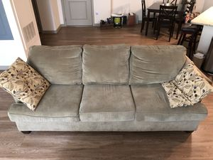 Need it gone today! Couch, coffee table, side table set. for Sale in Boston, MA