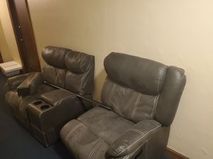 Sectional couch with reclining seat for Sale in Seattle, WA
