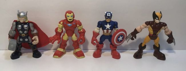 """4 Marvel Playskool Heroes 5"""" Movable Dolls for Sale in Lake Oswego,  OR"""