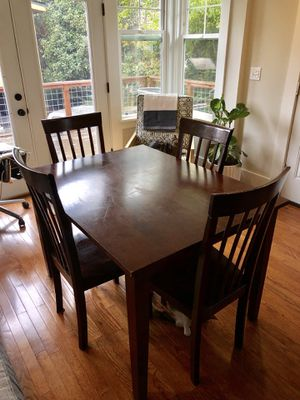 Dark wood 5 piece Dining Set for Sale in Seattle, WA