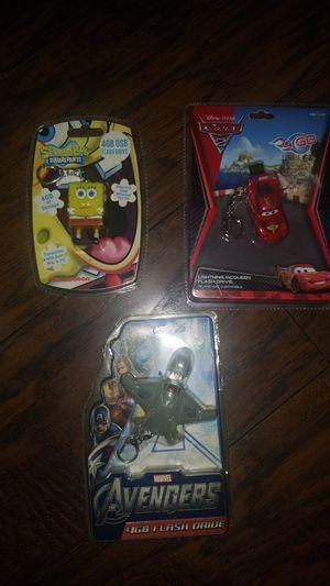 Sponge bob/Car and avengers usb 4gig flash drive. for Sale in Carson, CA