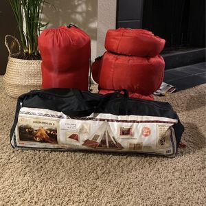 Camping bundle - 5 person In tent and two sleeping bags for Sale in Vancouver, WA
