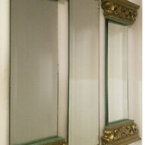Beautiful Vintage Set of 3 Ancient Roman Style Gold w/Teal Wall Mirrors for Sale in Ashburn, VA