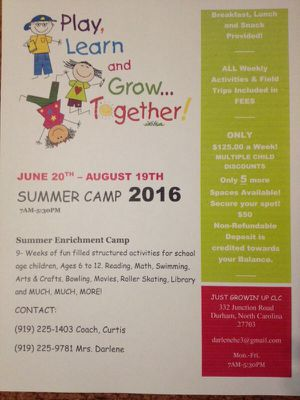 Summer Camp $125/wk for Sale in Durham, NC
