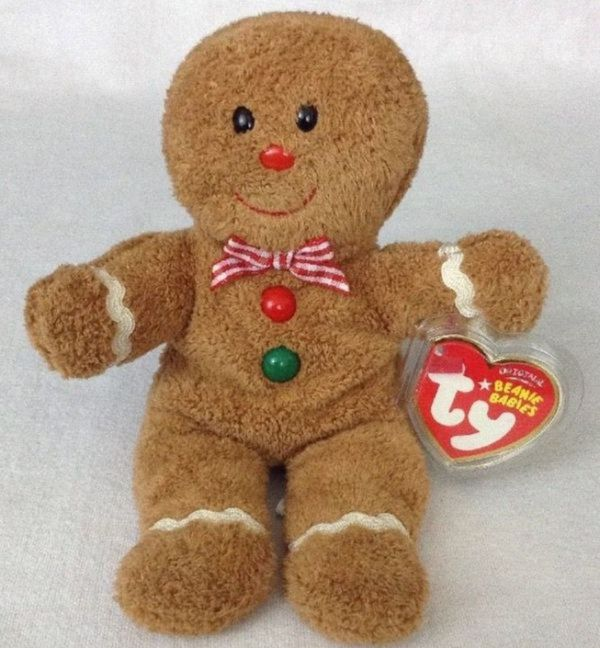 9457f3d6c03 Gingerbread Girl and Boy set TY Beanie Babies 2007 for Sale in ...