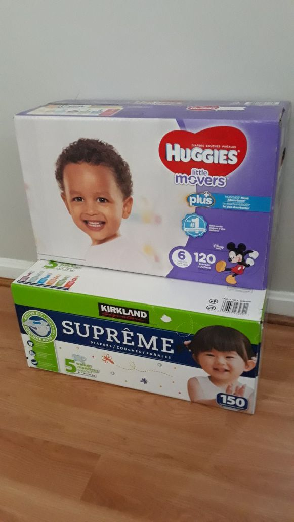 Pampers size 5 and 6