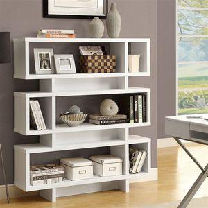 White Modern Bookcase Bookshelf for Sale in Las Vegas, NV