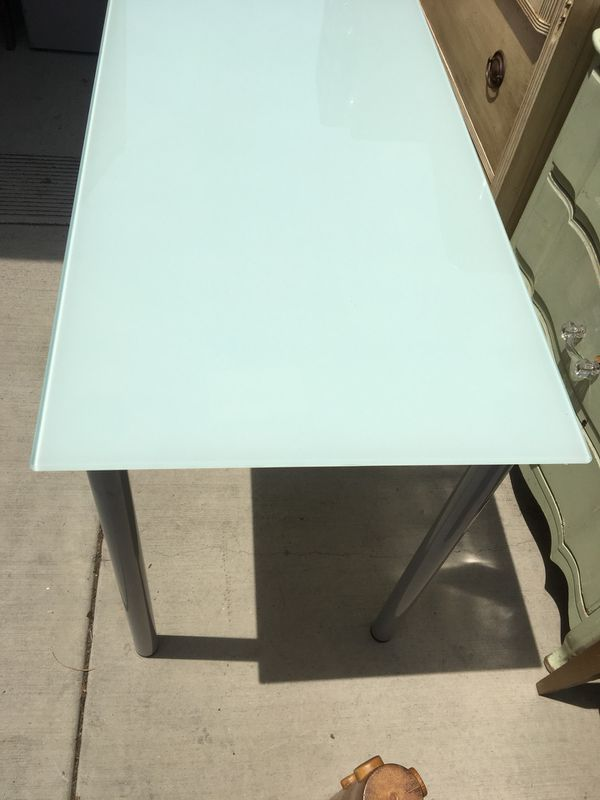 Glass top desk/table $40