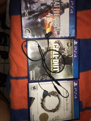 3 PlayStation 4 games Perfect condition with almost new Beats x wireless. for Sale in Miramar, FL
