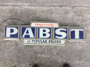 Pabst lighted sign for Sale in Snydertown, PA