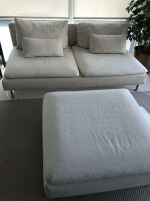 Ikea couch and ottoman for Sale in Miami, FL