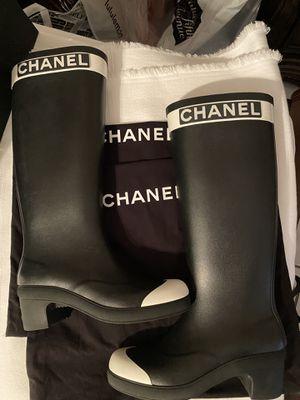 Chanel rain boots for Sale in San Antonio, TX