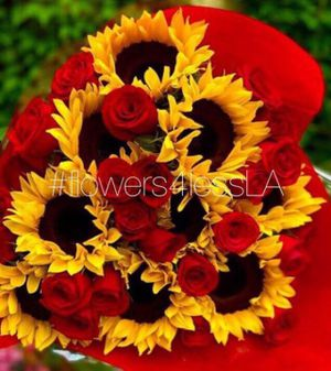 Flowers 10 Sunflowers 24 Roses Bouquet for Sale in Los Angeles, CA