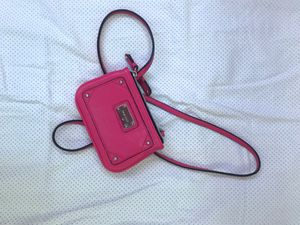 Nine West Small Leather Crossbody Bag -Electric Fuchsia pink for Sale in West Jordan, UT