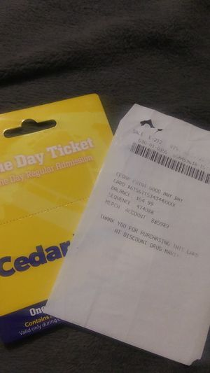 Cedar point ticket for Sale in Akron, OH