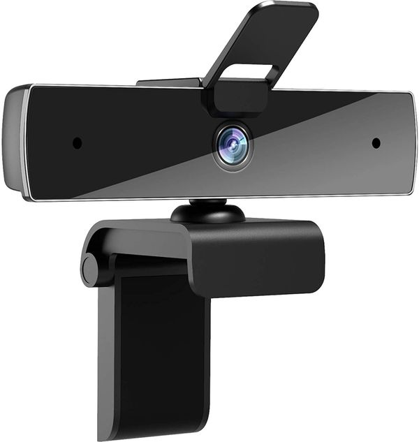 Webcam with Microphone QTNIUE FHD Webcam 1080p,USB Camerafor Video Calling, Stereo Streaming and Online Classes