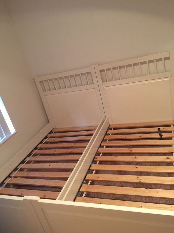 girls twin beds White wood IKEA