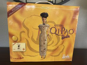 Vintage 1998 golden QI Pao Barbie Hong Kong edition for Sale in Encinitas, CA