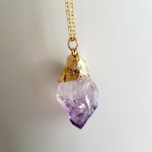Summer love super cute Gold amethyst necklace for Sale in San Francisco, CA