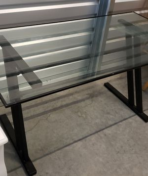 Thick glass office computer desk for Sale in Olympia, WA