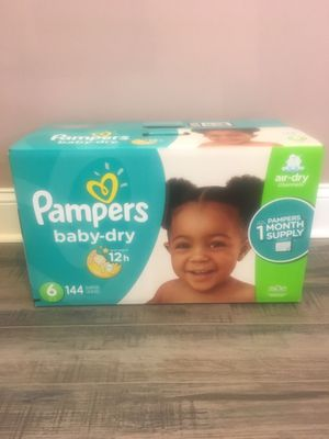 Pampers size 6 144 count for Sale in Philadelphia, PA