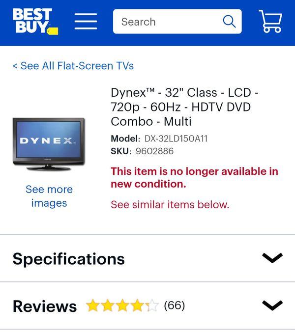 "Dynex™ - 32"" Class - LCD - 720p - 60Hz - HDTV DVD Combo - Multi Model:DX-32LD150A11"