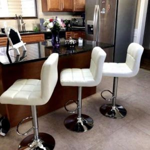 3 brand new white bar stools New in the box for Sale in Miami, FL