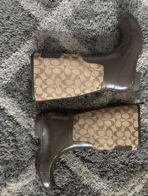 COACH rain boots for Sale in Riverside, CA