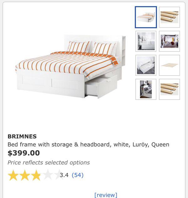 IKEA Brimnes Bed (Queen)