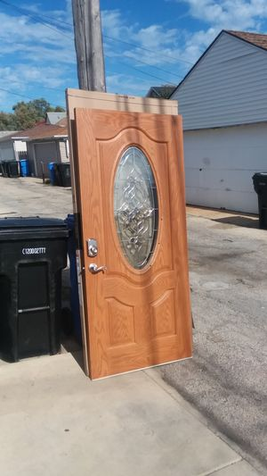 Use like new fiberglass door size w36 h 79.1/2 $160 for Sale in Chicago, IL