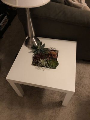 Side table with built-in succulent garden! for Sale in Chicago, IL