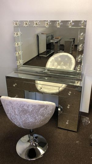 Vanity With Light Mirror $1 Down And Take It Home Today for Sale in Dallas, TX