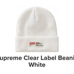 Supreme Clear Label Beanie for Sale in Philadelphia, PA