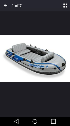 Inflatable rafting/fishing boat set with 2 oars for Sale in Richmond, VA