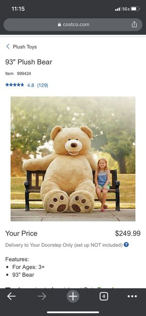 93 inches Teddy Bear for Sale in Redmond, WA