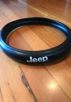 Jeep Leather Steering Wheel Cover for Sale in Arlington, WA