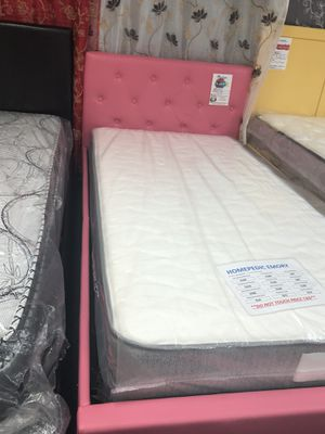 Twin bed frame. Brand new. Colors: Black, white, pink. for Sale in Fort Worth, TX