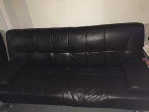 Leather futon for Sale in Redwood City, CA