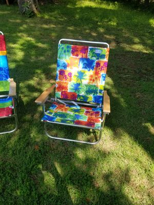 Rio aluminum beach chairs for Sale in Gilbertsville, KY
