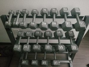 Dumbbells with rack for Sale in Phoenix, AZ