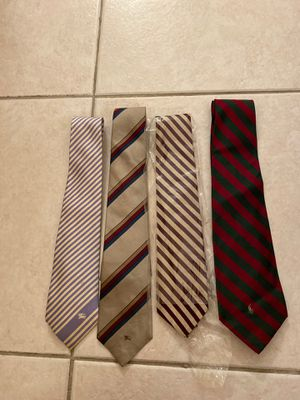 Vintage Burberry and Polo Ties for Sale in Miami, FL
