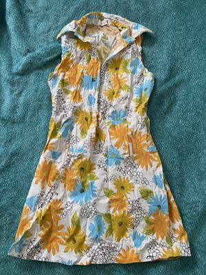THINK Blue Orange White Flower Hook Dress - Women's Small (40 EUR) for Sale in Ithaca, NY