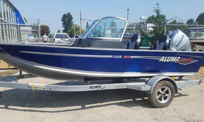 2018 Alumacraft 165 Classic - aluminum boat for Sale in Pacific,  WA