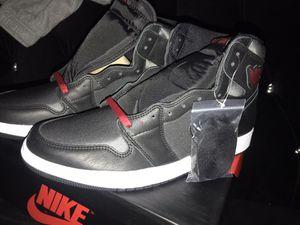 Jordan 1 Black Satin Size 12 for Sale in Bell Gardens, CA