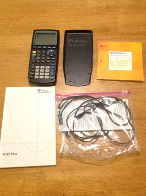 TI-83 Plus Graphing Calculator with accessories for Sale in Canton, OH