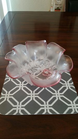 Glass rose antique bowl for Sale in Tolleson, AZ
